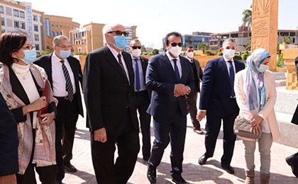 The Minister of Higher Education Visits a Number of Examination Committees in Private Universities and Higher Institutes